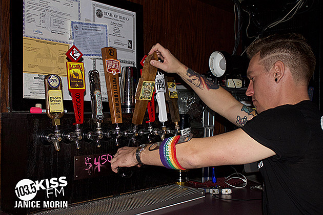 Cruise & Box Behind the Bar at The Balcony for Suicide Prevention in Idaho. photo credit: Janice Morin