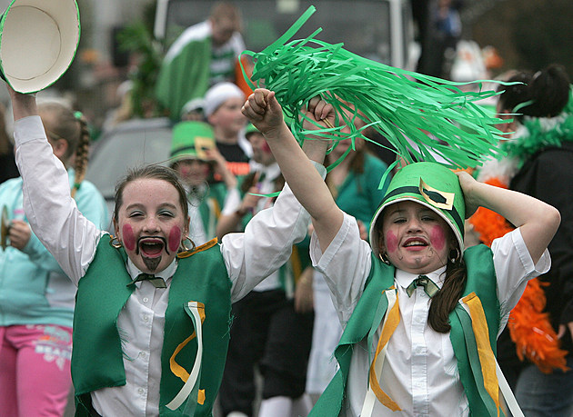 St Patrick's Day Celebrations Take Place In Belfast
