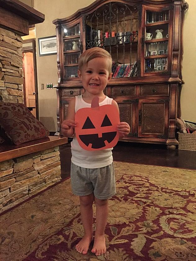 Lennox getting ready for Halloween.
