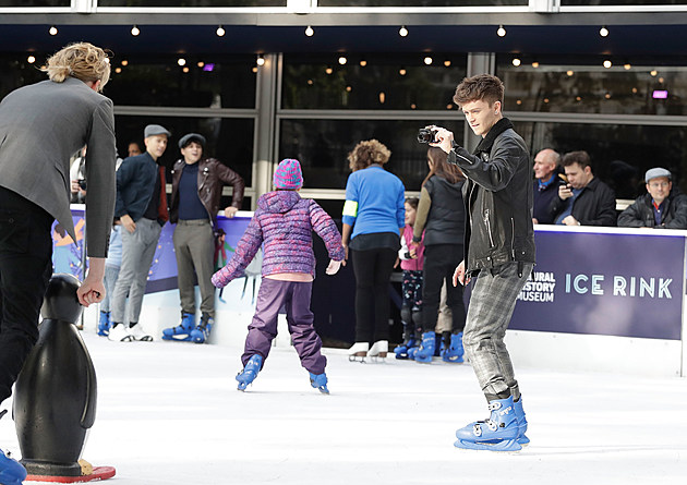 The Vamps at The Natural History Museum Ice Rink